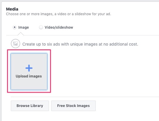 Click upload images button