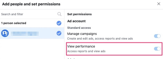 Toggle view performance option
